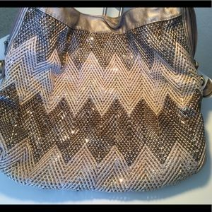 Handbags - Metallic weave Hobo Bag